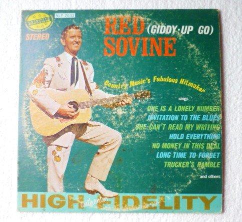 Giddy-up Go LP BY Red Sovine 1960s lp Nashville nlp 2033