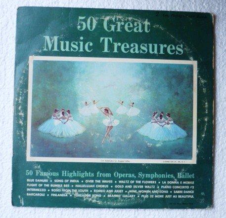 50 Great Music Treasures lp Many Artists Operas Symphonies Ballet