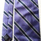 Roundtree and Yorke Silk Tie Navy / White on Purple Handmade in U S A