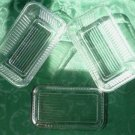 Set of Two Ribbed Lidded Clear Glass Refrigerator Dishes Marked Pasabahce