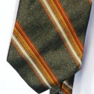Roundtree and Yorke Silk Tie Gold / Orange on Gray Handmade in U S A