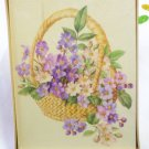 Sealed New Cards - Notes from American Greetings - Pansies in Basket Design