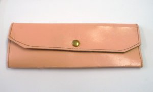 Collectible Pink Shears Scissors and Pink Tri Fold Leather Pouch