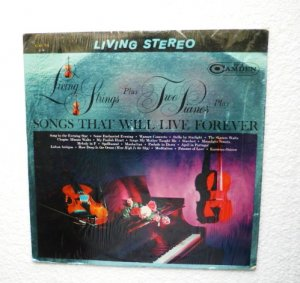 Living Strings Plus Two Pianos Play Songs That Will Live Forever Record cas 721