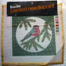 2 Bucilla Painted Needlepont Tapestry Holiday Bird Designs Vintage New