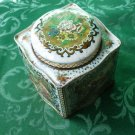 Retro Floral and Diamond Metal Container by Damer Made in England