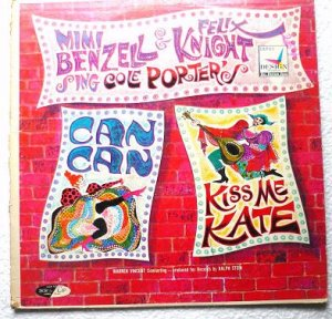 M Benzell n F Knight Can Can and Kiss Me Kate lp dlp-111