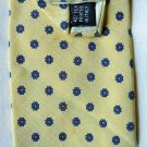 Claybrooke necktie neck tie Colors/pattern: Blue Floral on Yellow