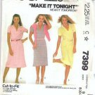 Mccalls Pattern 7399 Misses Sz 8 10 12 Knit Dress