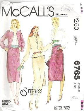 Mccalls Pattern 6765 Jacket Blouse Skirt Sz 14 Petiteable