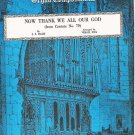 Now Thank We All Our God from Cantata No 79 Organ Sheet Music Bach