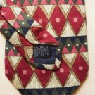 New: Roundtree and Yorke Silk Tie Blue Green Maroon Diamond Pattern