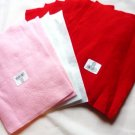 Ten Felt Squares New w Labels Solid Pink White Red 12 x 9