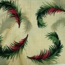 Holiday Feathers Fabric 3 Yds by Karen Jarrar for Marcus Brothers