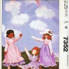 Mccalls 1980 Pattern 7352 Doll and Doll Clothes Package