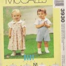 McCalls Uncut Baby Pattern 3930 Jumper Shorts Pants Blouse Shirt - Small to Extra Large
