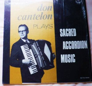 Don Cantelon Plays Sacred Accordion Music hlp 725 Religious Album
