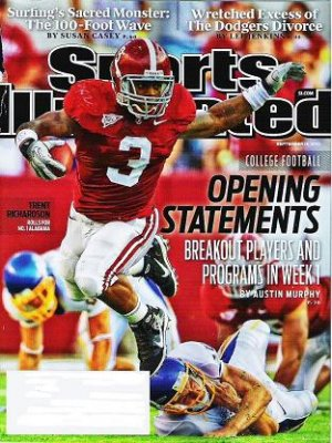 Sports Illustrated Mag Sept 13 2010 - Unread - Trent Richardson Monster Surf Wave
