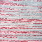 4 Lot 16 x 11 Inch Fabric Material Gray Berry Tan Stripe for Curtains or Furniture