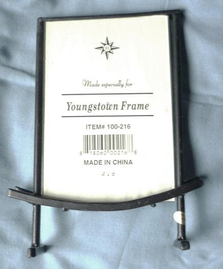Two 4 x 6 Black Metal Picture Frames ~ New ~ Youngstown Frame