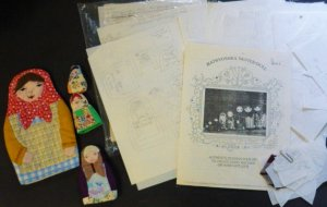 Matryoshka Nested Doll - Cathy Borland 4 Dolls Complete and Instructions to Make