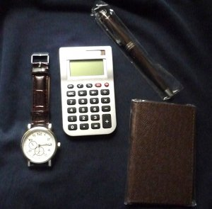 Executive Gift Set for Men Includes Watch Memo Pad Calculator and Pen