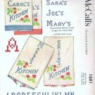 McCalls 1681 Personalized Tea Towel Transfers Vntg 1950s for Cross Stitching