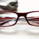 New + 2.50 Red Reading Glasses Eyeglasses With Cleaning Pouch