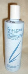 Highlight Beauty Shampoo by Avon for Brown or Black Hair 12 oz