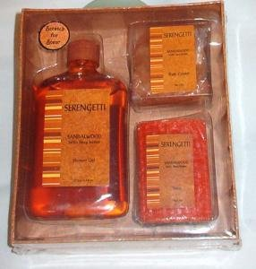 New: Serengetti Bath Set Shower Gel Bath Crystals Soap w Shea Butter