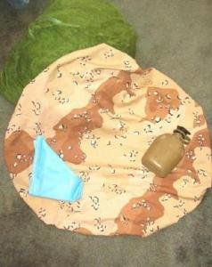 New Military Surplus Camouflage Pack Cover, Canteen, Large Net, Pillow for Camping