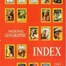 National Geographic Index 1947-1976 Inclusive 1977 Hardcover