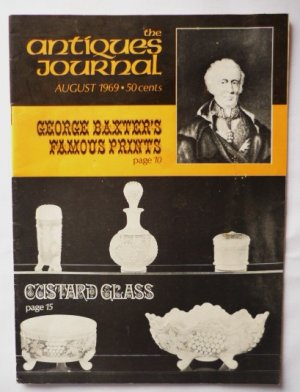 The Antiques Journal August 1969 Baxters Famous Prints