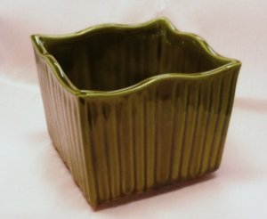 Vintage Mccoy Green Pottery Planter Marked 631 Very Good Cond