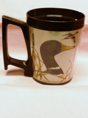 1980 National Wildlife Federation Plastic Mug Mallard Duck