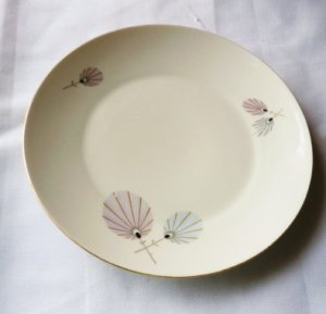Bavaria Eberthal W Germany Dinner Plate Flower Pattern Rare Exc Vintage