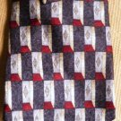 1970s Stafford Executive Silk Necktie Black Maroon Silver