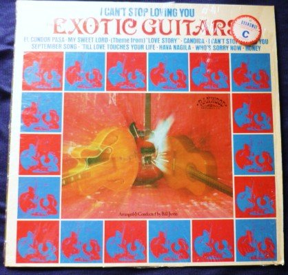 I Cant Stop Loving You by The Exotic Guitars lp r8085