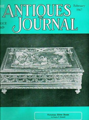 The Antiques Journal February 1967 Victorian Silver Boxes Schmidt