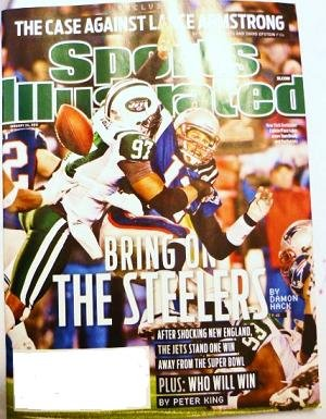 Unread - Sports Illustrated January 24 2011 Lance Armstrong The Jets The Steelers