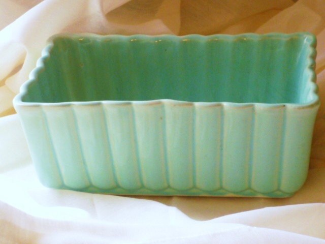 USA Marked Mint Green Planter - Vintage and Rare