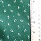 44 x 74 inch Fabric Dk Green with Petite White Flowers 2 yards+