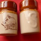 Iowa Souvenir Ceramic Salt and Pepper Shakers
