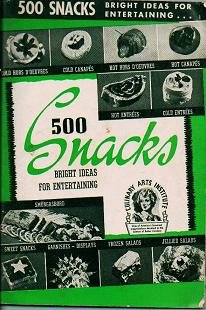 500 Snacks 1940 Bright Ideas for Entertaining edited by Ruth Berolzheimer / Culinary Arts