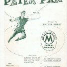 1958 Choral Paraphrase Sheetmusic from Mary Martins Peter Pan for S.A. Walter Ehret