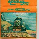 Rio Grande Matchbook Cover - The Action Road - Railroad Memorabilia