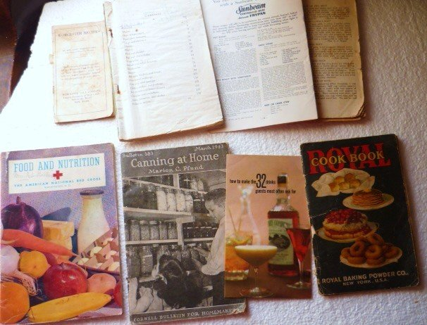 Lot of Eight Vintage Antique Cookbooks - One Owner
