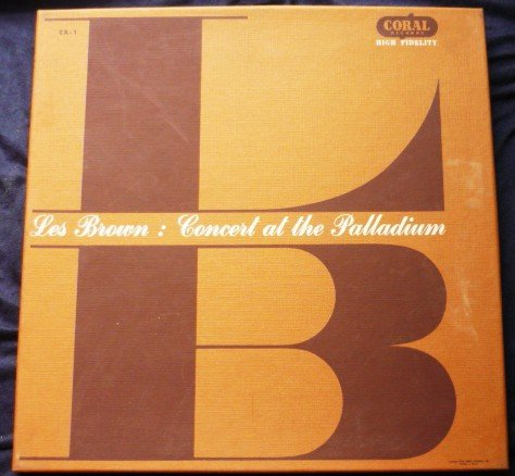 Les Brown Concert at the Hollywood Palladium 2 Record lps 1953 cx-1