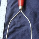 Vintage Red and Cream Kitchen Utensil Potato Masher
