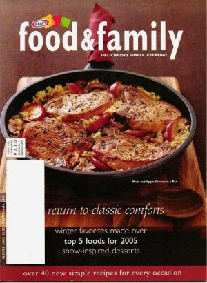 Unread Kraft Food and Family Magazine Winter 2005